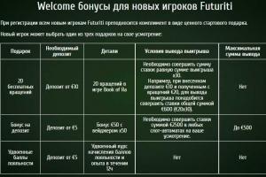 Futuriti :: Бонусы для новых игроков