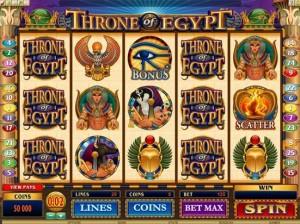 "SPIN PALACE КАЗИНО :: Видеслот Throne of Egypt (""Трон Египта"")"