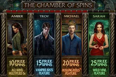 Видео слот Immortal Romance :: Заставка бонусной игры The Chamber of Spins