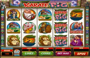 Spin Palace Casino :: Новая слот-машина Karate Pig