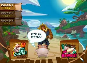 Spin Palace Casino :: Финальная бонусная игра Final Showdown в слоте Karate Pig