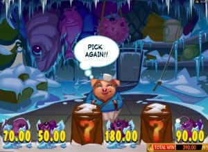 Spin Palace Casino :: Бонусная игра Hammer Bonus в слоте Karate Pig