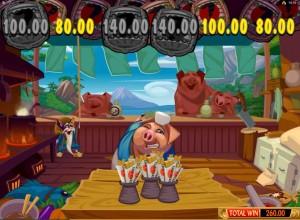 Spin Palace Casino :: Бонусная игра Pork Chop Bonus в слоте Karate Pig