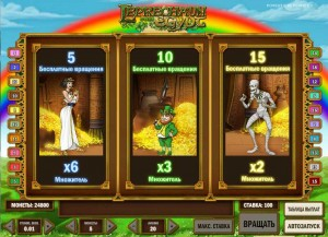 Unibet Казино :: Выбор количества бесплатных спинов в игровом автомате Leprechaun goes Egypt