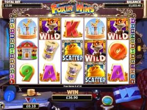 ДЕМО-ИГРА :: Игровой автомат Foxin' Wins - Кликни на картинку и играй БЕСПЛАТНО в новом окне!