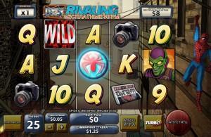 EUROGRAND КАЗИНО :: Игровой автомат Spider-Man: Attack of the Green Goblin (Бесплатные игры Rivaling)