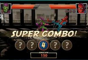 EUROGRAND КАЗИНО :: Игровой автомат Spider-Man: Attack of the Green Goblin  (Функция Ultimate Fight (Решающая схватка), удар Super Combo)