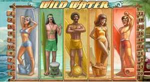 Казино Luck :: Пример бонусного выигрыша Surf Team на слоте Wild Water™