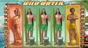 Казино Luck :: Пример бонусного выигрыша Surf's Up на слоте Wild Water™