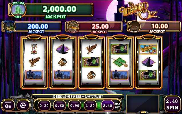 """SlotsMagic Казино :: Стань первым игроком на слоте """"Wizard of Oz - Wicked Riches"""""""