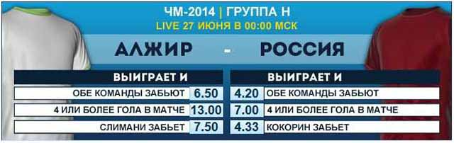 Сделайте ставку на матч Алжир-Россия в БК William Hill !