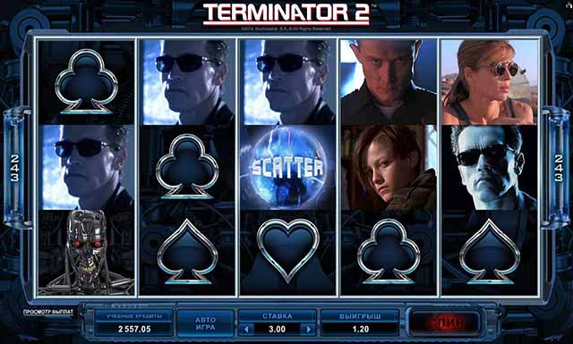 ICE CASINO :: Игровой автомат Терминатор 2 - Начни играть прямо сейчас!