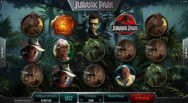 Ice Казино :: Видеослот  Jurassic Park («Парк Юрского периода») - Играй прямо сейчас!