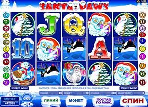 """ICE CASINO :: Новогодний игровой автомат Santa Paws (""""Лапы Санты"""")"""
